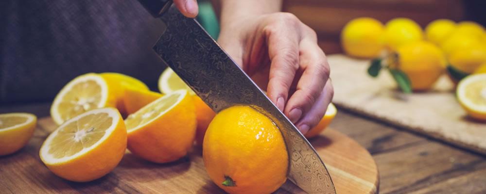 Lemons half slices