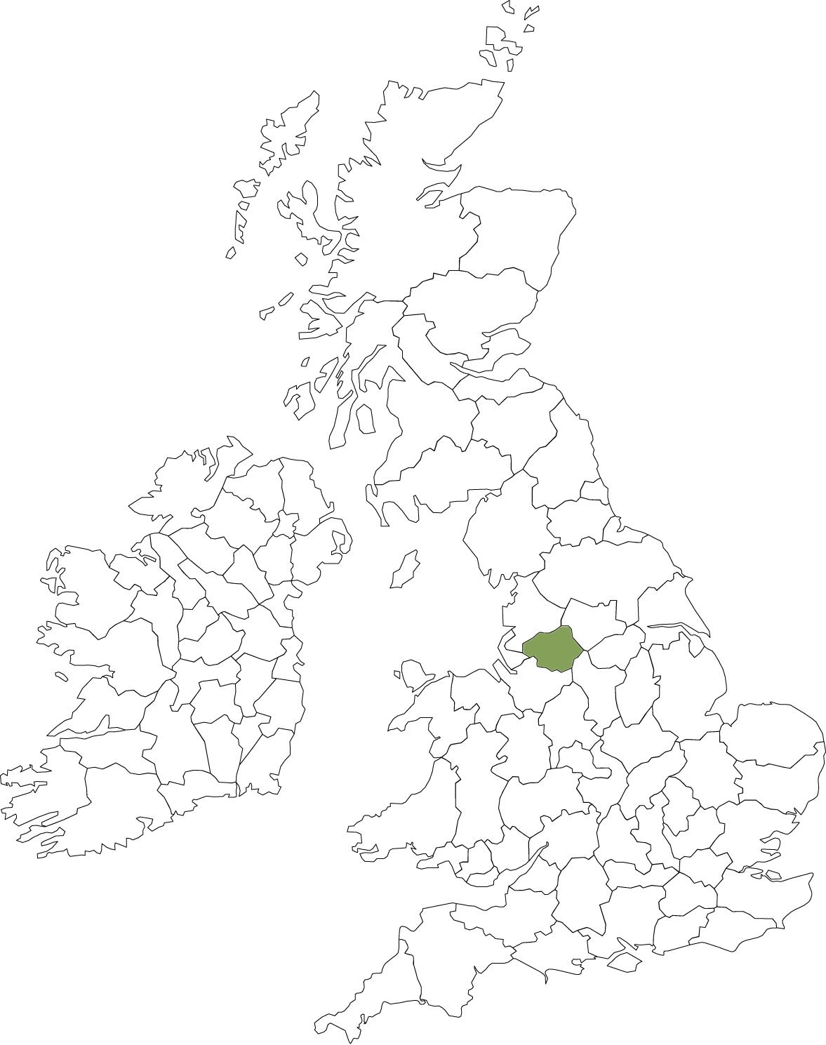 Outline UK map